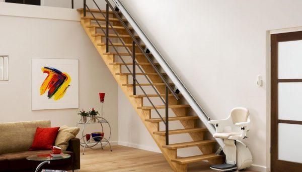 Monte Escalier Thyssenkrupp droit confort plus homeglide levant présentation