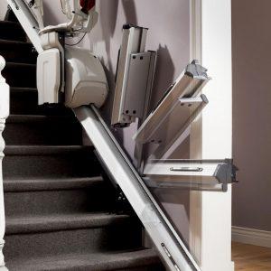 Monte Escalier Thyssenkrupp droit confort plus homeglide levant rail relevable
